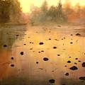 Autumn River Fog by Connie Tom