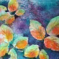Autumn Rose Leaves by Sherri Patterson