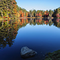 Autumn Serenity In Maine Usa by Vishwanath Bhat
