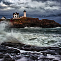 Autumn Storm At Cape Neddick by Rick Berk