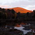 Autumn Sunrise At The Lake by Nancy De Flon