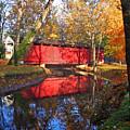 Autumn Sunrise Bridge II by Margie Wildblood