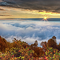 Autumn Sunrise On Cloud Tops by Dan Carmichael