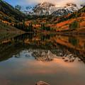 Autumn Sunrise On Maroon Lake by Dan Sproul