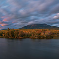 Autumn Sunset At Mount Katahdin by Jesse MacDonald