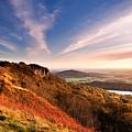 Autumn Sunset At Sutton Bank by Richard Burdon