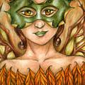 Autumn Tree Sprite Art by Kristin Aquariann