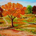 Autumn Trees by Konstantinos Charalampopoulos