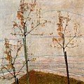 Autumn Trees by Egon Schiele
