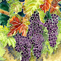 Autumn Vineyard In Its Glory - Batik Style by Audrey Jeanne Roberts