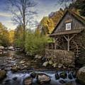 Autumn Water Wheel by Dawn Van Doorn