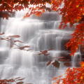 Autumn Waterfall I by Kenneth Krolikowski