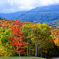 Autumn White Mountains Nh by Michael Hubley
