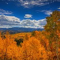 Autumn Wildfire At Ohio Pass by Bill Sherrell
