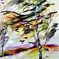 Autumn Wind And Birds  by Ginette Callaway