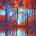 Autumnal Landscape, Impressionistic Art by Patricia Awapara