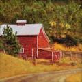Autumn's Black Hills Barn by Amanda Smith