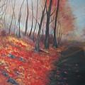 Autumns Pathway by Leslie Allen