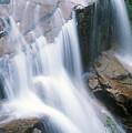 Avalanche Falls Flume Gorge by John Burk