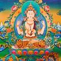 Four-armed Avalokiteshvara by Jeelan Clark