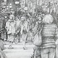 Avignon Shoppers by Jon Falkenmire
