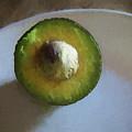 Avocado In Morning Light  by Lynda Lehmann