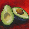 Avocado On Red  by Torrie Smiley