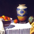 Awaiting Vases With Fruit by David Olander