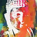 Awakened Buddha 5- Art By Linda Woods by Linda Woods
