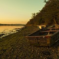 Axe Estuary Boat  by Rob Hawkins