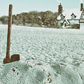 Axe In The Snow by Amanda Elwell
