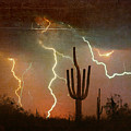 Az Saguaro Lightning Storm by James BO  Insogna