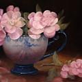 Azaleas In A Cup by Loretta Fasan