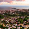 Azorean Town At Sunset by Gaspar Avila