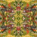 Aztec Kaleidoscope - Pattern 001 - Desert by Julie Turner