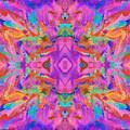 Aztec Kaleidoscope - Pattern 009 by Julie Turner