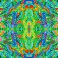 Aztec Kaleidoscope - Pattern 025 by Julie Turner