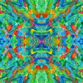 Aztec Kaleidoscope - Pattern 026 by Julie Turner