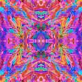 Aztec Kaleidoscope - Pattern 032 by Julie Turner