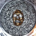 Aztec  Mayan Skull Warrior Calendar Relief Photo by Americo Salazar