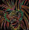 Aztec Skull Warrior by Americo Salazar