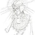 Aztec Warrior by Americo Salazar