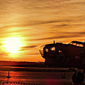 B 17 At Sunset by Bill Dussault