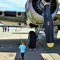 B-17 Engine Aircraft Wwii by Chuck Kuhn