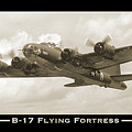 B-17 Flying Fortress Show Print by Mike McGlothlen