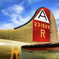 B-17 Tail Wwii by Chuck Kuhn