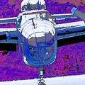 B-25 Blue Purple by Chris Taggart