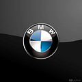 B M W  3 D Badge On Black by Serge Averbukh
