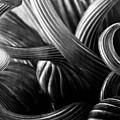 B W Glass Sculpture Abstract 4596 B W_2 by Steven Ward