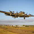 B17 Short Final At Livermore by John King